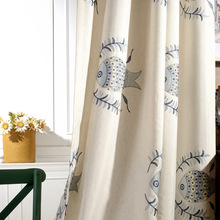 [Fish And Fishing] Manufacturers Direct Selling Curtain Cotton Linen Embroidery Bedroom Living Room Library Balcony Shade Curtai