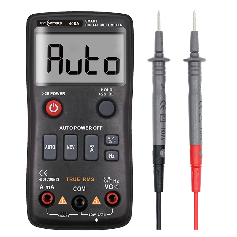 RM408A Digital Multimeter True RMS with Temperature Tester 4000 Counts Auto Ranging AC/DC Transistor Voltage Meter RM408B|Multimeters|   - AliExpress