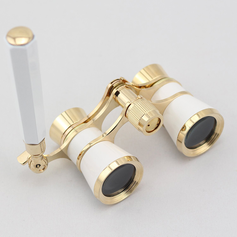 Opera Theater Horse Racing 3X25 Glasses Binocular Telescope With Handle/Accessory Kit Women Elegant Fashion Telescope Well Sell