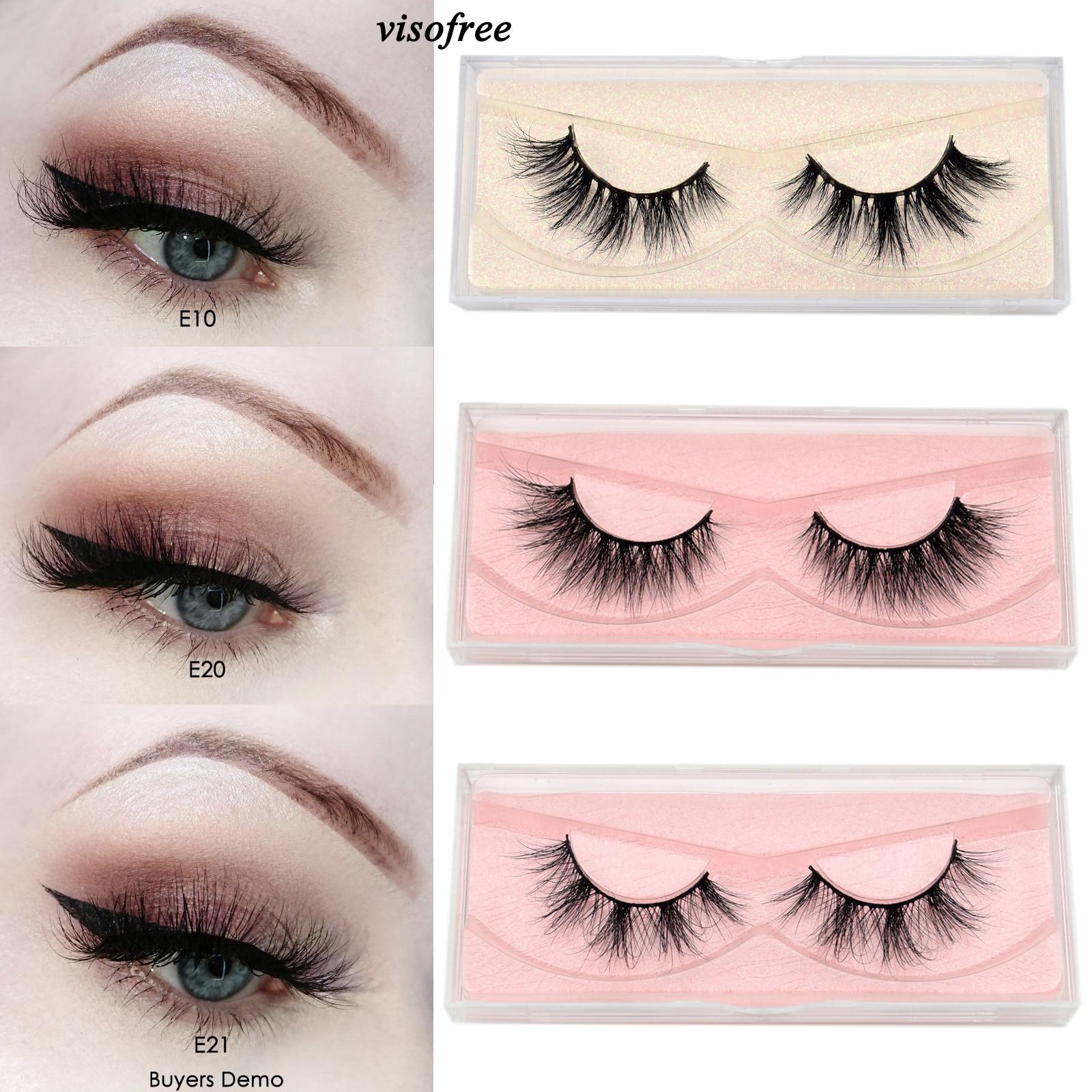 Visofree 3D Eyelashes Mink False Eyelashes Handmade Thick False Eyelashes Extension Soft Eye Lashes Natural Long Mink Eyelashes