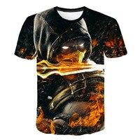 Новый стиль Mortal Kombat 3D мужская футболка Новая модная повседневная женская футболка с коротким рукавом Уличная классная Одежда для мальчиков...