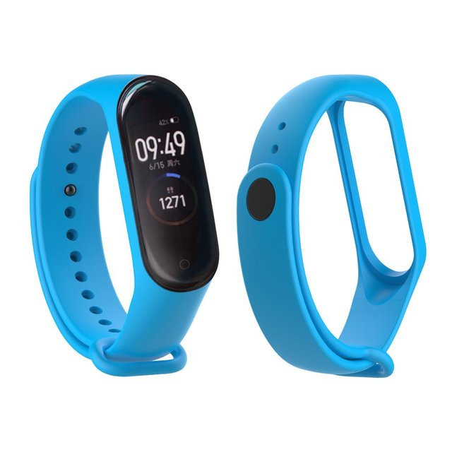 Colorful mi band 4 accessories pulseira miband 4 strap replacement silicone Wriststrap for xiaomi mi4 smart bracelet Wristband 5