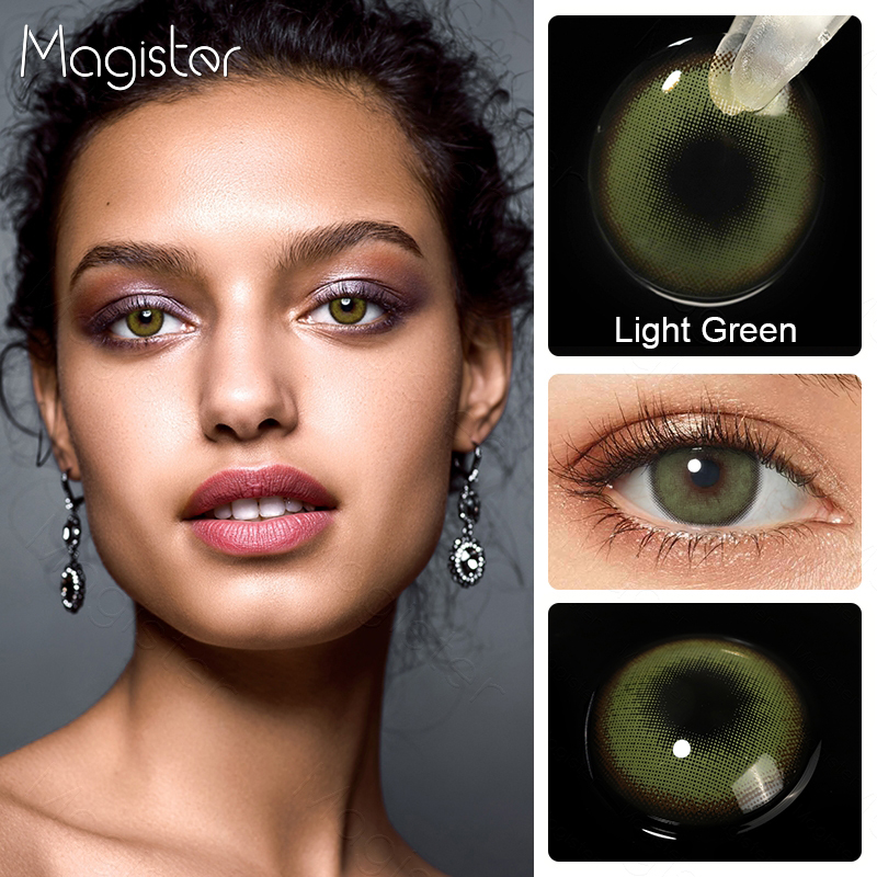 2pcs/Pair Contact Lenses Colored Contact Lenses for Eyes Colored Yearly Blue Brown Colorful Beauty Eye Contact Lenses Eye Color 5