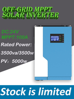 3500W 24VDC 100A hybrid inverter Rated power 3500va/3500w PV 5000W 50hz/60hz Off Grid solar Inverter all in one Systems