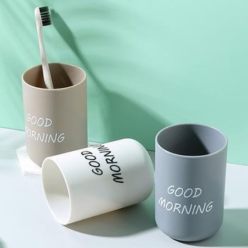 Proste Nordic Travel przenośne zestawy do mycia naczyń zestawy łazienkowe plastikowa szczoteczka do zębów kubki dzień dobry szczotka do zębów nowość tanie i dobre opinie CN (pochodzenie) Z tworzywa sztucznego D7630