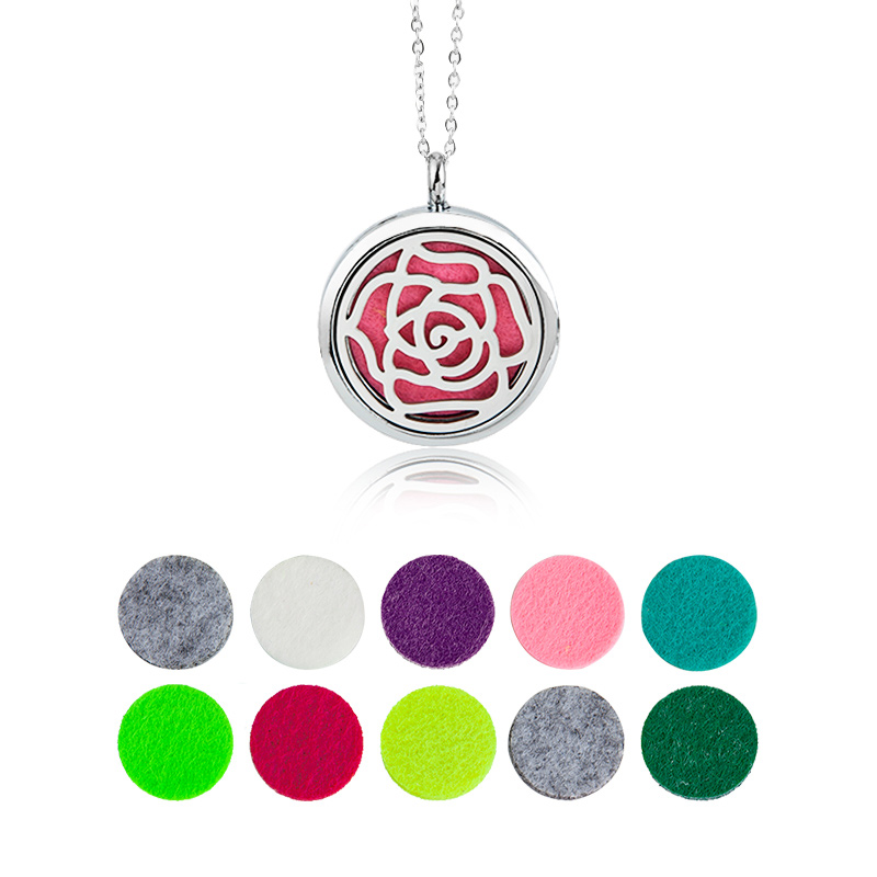 1pcs Aroma Diffuser Necklace  Lockets Pendant Perfume Essential Oil Aromatherapy Locket Necklace With Pads