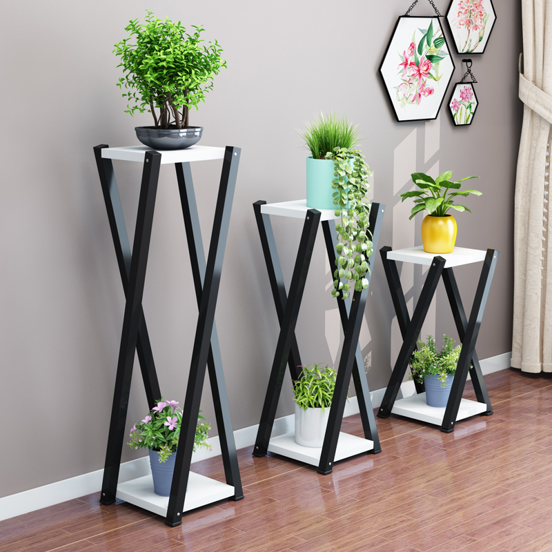 Flower Frame Wrought Iron Multi-layer Living Room Green Radish Meat Pot Rack Decoration Floor Space Space Flower Shelf