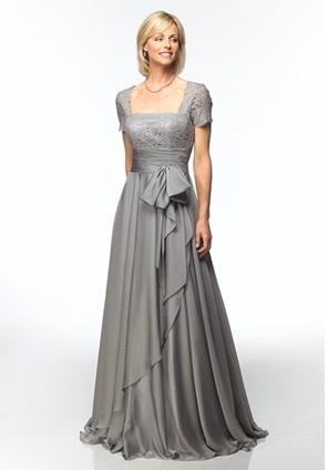 free shipping short sleeve gorgeous vestido de festa madrinha 2016 new fashion chiffon tea length Mother of the Bride Dresses