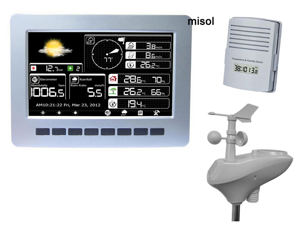 Stazione meteorologica WIFI con memorizzazione dati wireless per caricamento dati sensore a energia solare, tester di radiazione solare