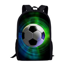 FORUDESIGNS School Bags for Boys 3D Cool Football Print Kids Bag Kindergarten Backpack Men Child Bookbag Mochila Escolar