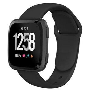 Image 4 - Ban Nhạc Dành Cho Fitbit Versa Dây Đeo Ngược Dây Khóa Thay Thế Vòng Đeo Tay Fitbit Versa Lite Dây Đeo Silicone Đồng Hồ Thông Minh Smartwatch Cổ Tay