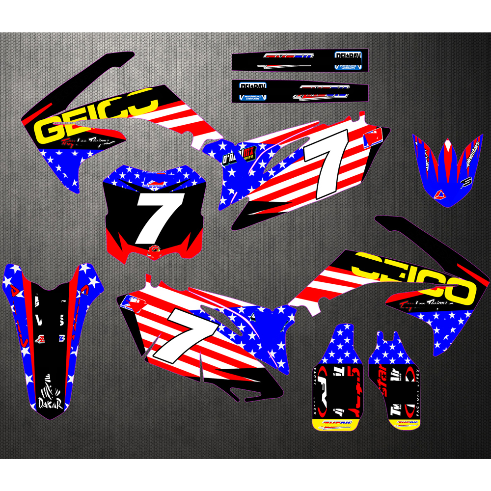 Motorbike Stickers GRAPHICS BACKGROUNDS Decals Customize For HONDA CRF250R CRF 250R CRF250 2010 2011 2012 2013 image