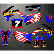 Motorbike Stickers GRAPHICS BACKGROUNDS Decals Customize For HONDA CRF250R CRF 250R CRF250 2010 2011 2012 2013