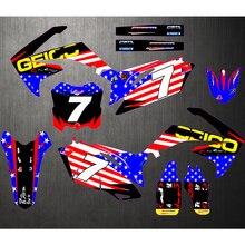 Pegatinas de fondo para motocicleta, calcomanías personalizadas para HONDA CRF250R CRF 250R CRF250 2010 2011 2012 2013