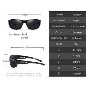 Image 3 - Viahda偏光サングラス男性デザイナーhd駆動太陽メガネファッション男性釣り眼鏡UV400 gafasデゾル