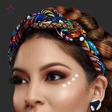 Nuevas diademas y pendientes Vintage para mujer, accesorios para el cabello de 2 piezas, diademas con estampado africano, diademas de colores SP024