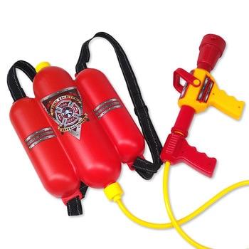 Children Backpack Water Gun Toys Fireman Extinguisher Toy Air Pressure Water Gun For Kids Summer Beach Party Games Gifts backpack fireman professional props toy water gun sprayer for kids summer toy party favors children s educational toys