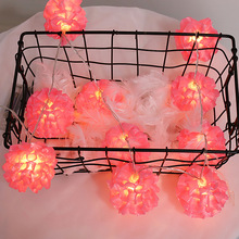 Led Flower Ball String Lighting Decorative Lights Wedding Party Lights Girl #8217 s Bedroom Small Colored Lights cheap CCTWINKLE floral NONE CN(Origin)