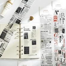 Pet-Sub-Packing-Tape Spotify Premium Washi-Tape Decorative English-Sticker Text Long-Strip