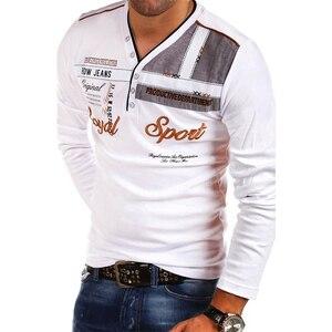 Image 2 - Zogaa 2019 뉴 여름 남성 폴로 셔츠 긴 소매 남성 탑 슬림 피트 프린트 코튼 폴로 셔츠 캐주얼 퀵 드라이 4xl 폴로 셔츠