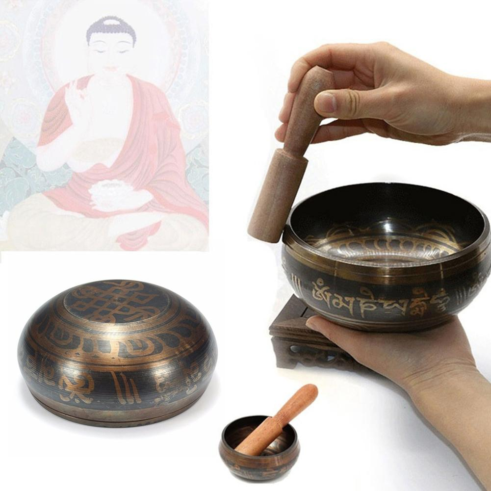 Tibetan Meditation Singing Bowl Nepalese Buddhist Tibetan Chanting Yoga Bowl Buddhist Sound Therapy Bowl Copper Religion Carft
