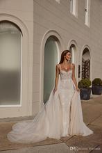 Vestido de novia hecho a medida con cuentas de Eslieb 2020