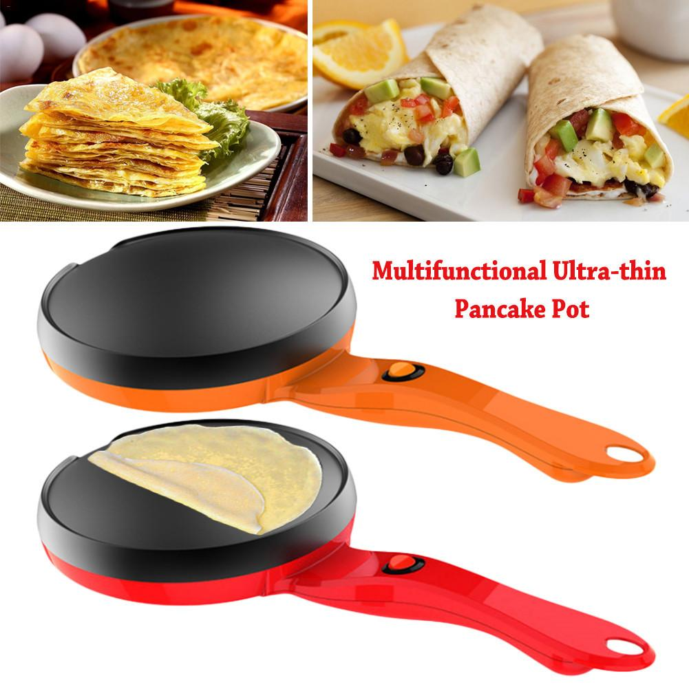 Multifunctional Ultra-thin Pancake Pan Non-stick Electric Scones Pot 600W Omelette Pot For Desktop Or Kitchen Countertops
