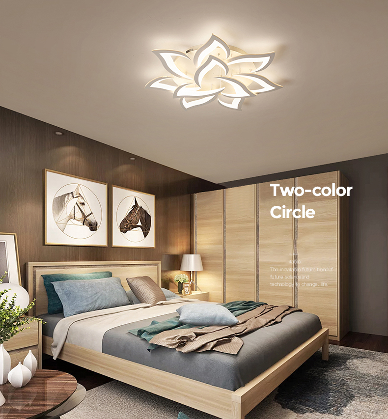 He77e3cfcd9414cf6bd13f57669499789D IRALAN modern led ceiling lights for living room kitchen bedroom kids' room  dimmable lamp art deco fixture with remote control