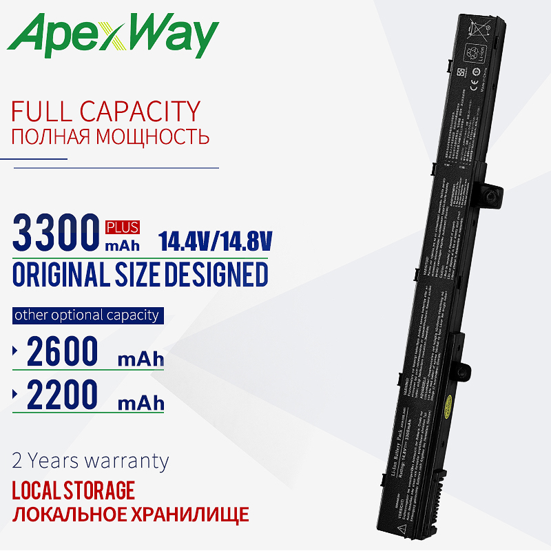 ApexWay 14.8V Laptop Battery For ASUS A41N1308 A31N1319 0B110-00250100 X551M For Asus X451 X551 X451C X451CA X551C X551CA Series
