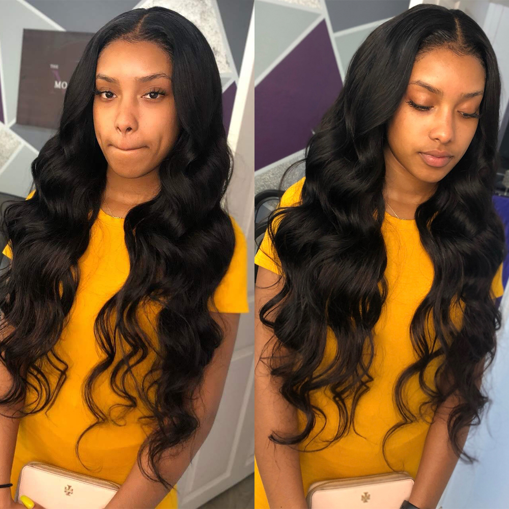 Amanda Body Wave Lace Front Wig Peruvian 360 Lace Frontal Wig Remy 150% 180% Density 13x4 Body Wave Lace Front Human Hair Wigs