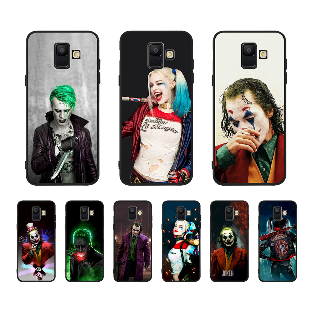 Joker and Harley Quinn Cool Phone Accessories Case For Samsung Galaxy A6 A10 A9 A7 PLUS GalaxyJ7 J8 J6 PLUS Soft TPU Back Cover