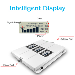 Image 2 - Lintratek ALC GSM 900 3G 2100 LTE 1800 Cellular Signal Booster Tri Band Repeater LCD Display Mobile Phone 4G Amplifier S8