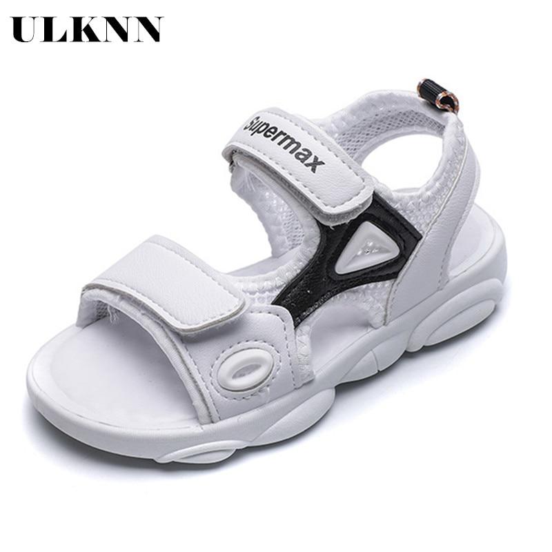 ULKNN 2020 Children Sandals Catamite Screen Cloth Ventilation Beach Shoes Girl Little Bear Bottom Shoes