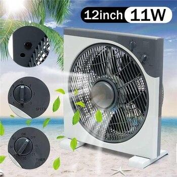 Ventilador 12v portátil silencioso de 12 pulgadas, dispositivo de ventilación de 11W, CC de 12V con pinza de cocodrilo, ajuste de tres velocidades, para oficina, hogar y actividades al aire libre 1