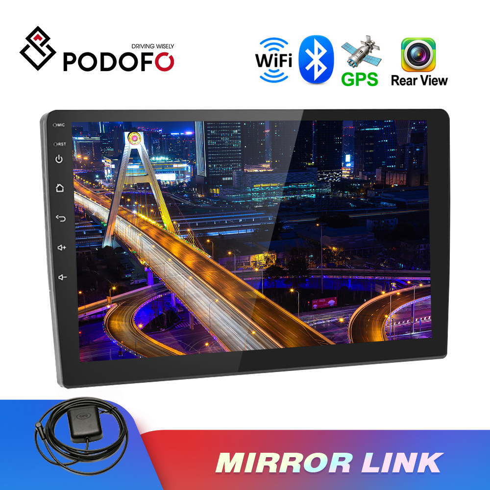 Podofo Mp5-Player Autoradio Multimedia Mirror Link Touch-Screen Car Tempered-Glass Bluetooth title=