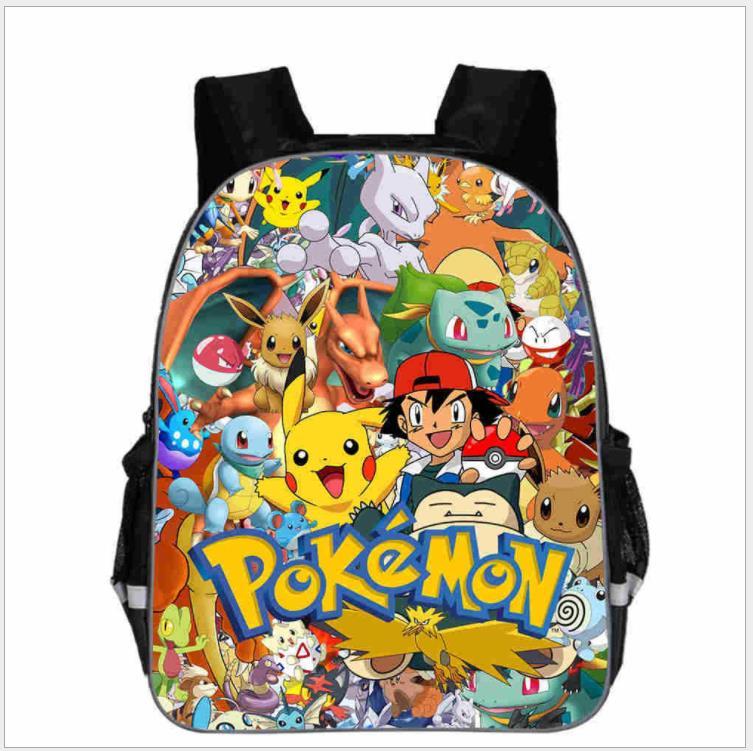 Pokemon Backpack Umbreon Pikachu Charmander School Bags Anime Double Layer Laptop Backpack Children Boys Girls Mochilas