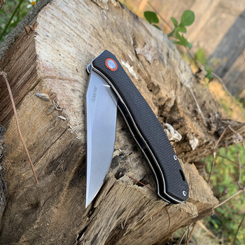 TUNAFIRE Folding Knife  D2 Tactical Outdoor  Stainless Steel Survival Hunting  Fishing Climbing Pocket Knife Fruit Cutter Tools 6