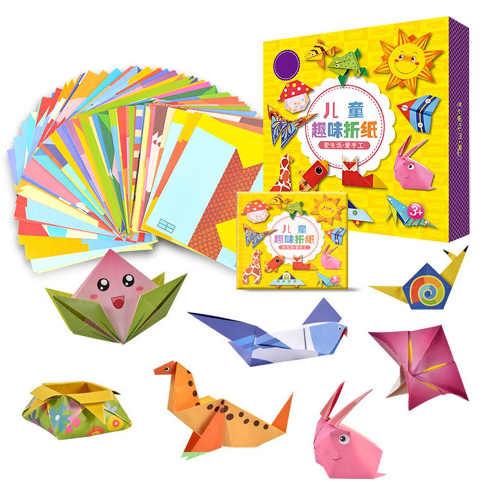DIY Origami Cartoon Colorful Paper Art Decor Toys For Baby Early Learning Fashionable Parent-child Interactive Toy