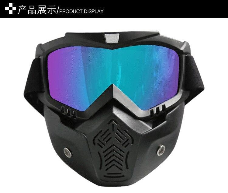 Retro Harley Goggles Locomotive Mask Motorcycle Helmet Mask Windproof Off-road Eye-protection Goggles Half Helmet Glasses For Ri