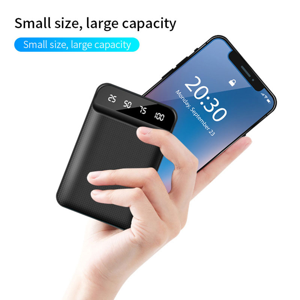 FLOVEME Mini Power Bank Dual Portable Fast Charging Battery Powerbank 10000mAH Travel Digital Display Poverbank for