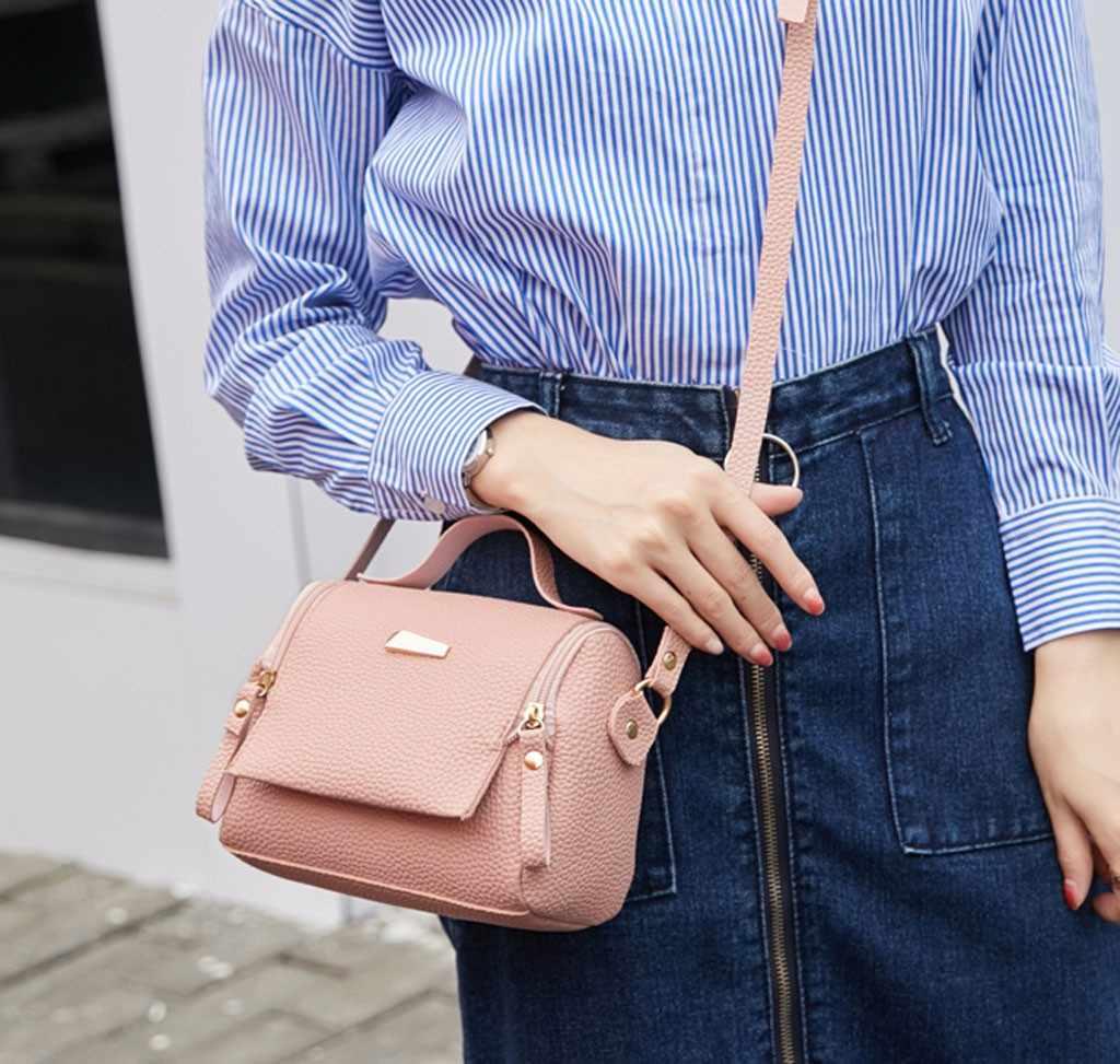 2019 moda zíper de couro do plutônio senhora ombros bolsa carta bolsa do telefone móvel saco do mensageiro