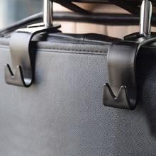 Siège arrière de voiture porte-crochets, 2 pièces, supports automatiques flexibles fixés sur l'appui-tête, accessoires de style