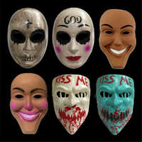 Halloween Purge Maske Gott Kreuz Scary Masken Cosplay Party Prop Sammlung Voll Gesicht Creepy Horror Film Masque Halloween Maske