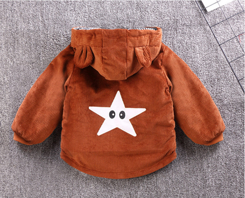 He77f5518a2864e42878debe01db28f10n - Winter New Baby Boy and Girl Clothes,Children's Warm Jackets,Kids Sports Hooded Outerwear 3 Colors