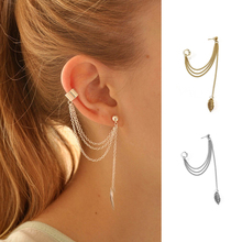 Geometric Earrings Leaf Chain Tassel Earrings for Woman Youn