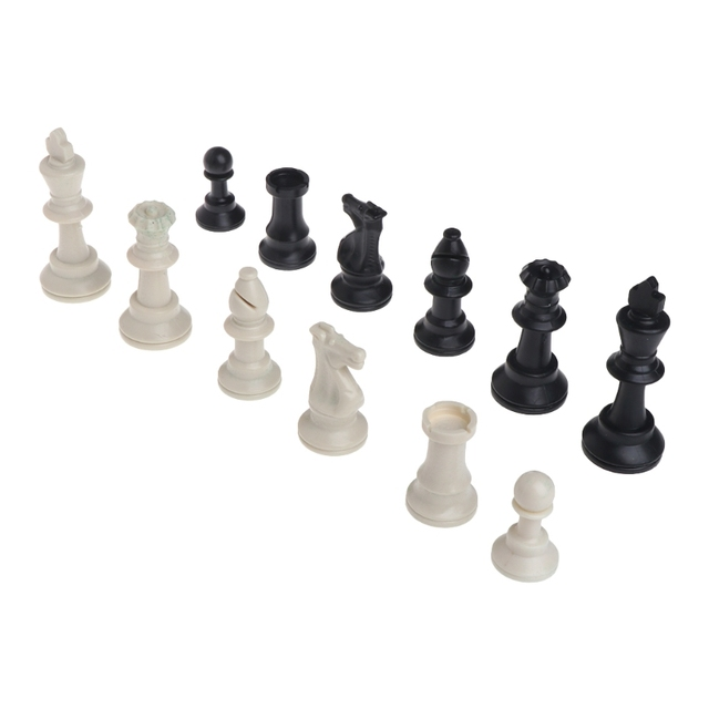 Pièces d'échecs médiévales en plastique complet Chessmen jeu de Chesses internationales en gros livraison directe 6