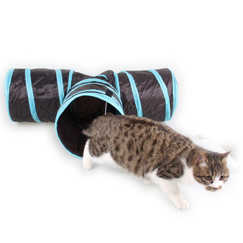 Pet cat Tunnel 3 WAY Y Shape Foldable Pet Puppy Animal Dog Cat Kitten Play sound Toy Exercise Tunnel Cave Cat Toys Interactive image