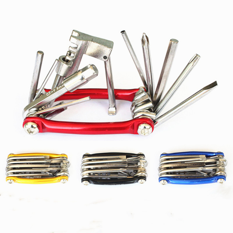 Bike Repair Tool Kit 11 In 1 Fold Wrench Repairing Screwdriver Bicycle Cycling Riding Chain Carbon Steel Multifunction Tool Set