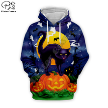 Pumpkin Bat Black cat print Men 3d galaxy Hoodies Halloween Christmas skull Sweatshirt tshirt zipper women unisex Tracksuit цена и фото