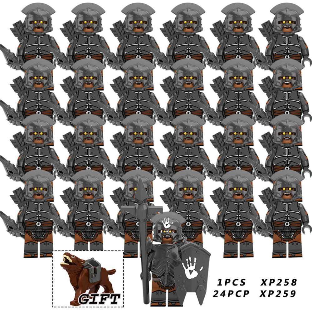 25pcs  Crusader Rome Commander Soldiers Medieval Knights Group The Lord Of The Rings Toys  Compatible Legoeinglys Building Block